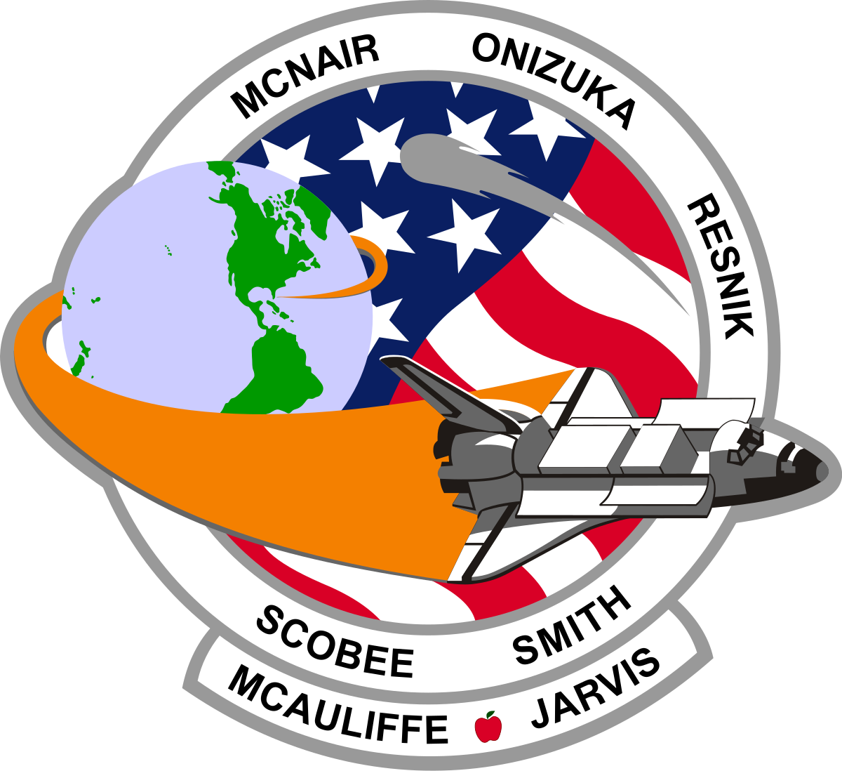 Challenger flight 51 l mission patch